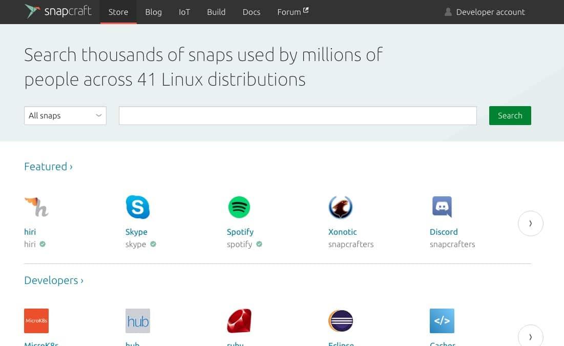 linux con snap