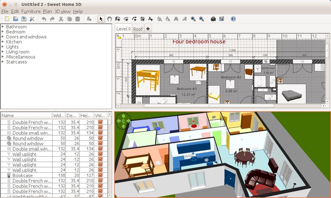 Programa gratuito para dise ar casas en 3d sweet home 3d for Planner casa 3d